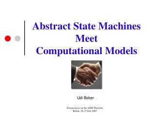 Abstract State Machines Meet Computational Models