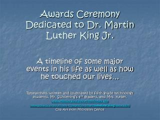 Awards Ceremony Dedicated to Dr. Martin Luther King Jr.