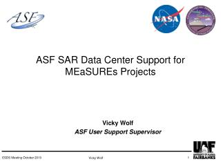 ASF SAR Data Center Support for MEaSUREs Projects