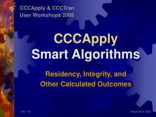 CCCApply Smart Algorithms