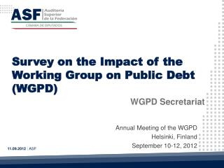Survey on the Impact of the Working Group on Public Debt (WGPD)