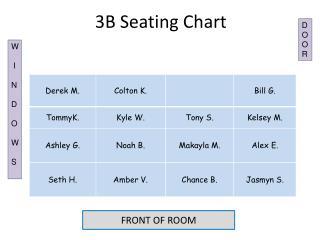 3B Seating Chart