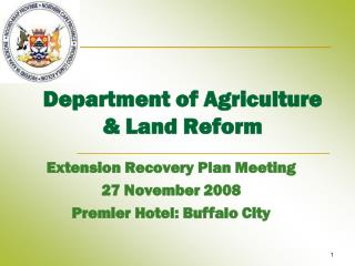 Department of Agriculture & Land Reform