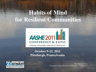 Habits of Mind  for Resilient Communities