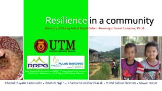 Resilience  in a community