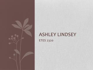 Ashley  lindsey