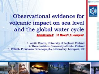 Observational evidence for volcanic impact on sea level and the global water cycle