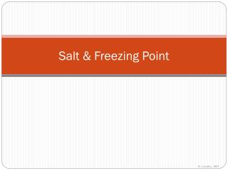 Salt & Freezing Point