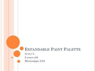 Expandable Paint Palette