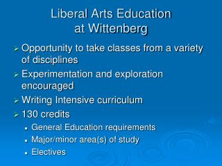 Liberal Arts Education  at Wittenberg