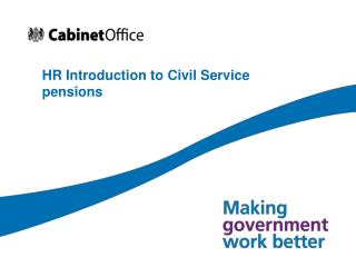 HR Introduction to Civil Service pensions