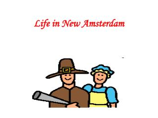 Life in New Amsterdam