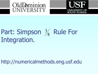 Numerical Methods     Part: Simpson      Rule For Integration.    numericalmethods.engf