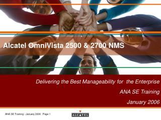 Alcatel OmniVista 2500 & 2700 NMS