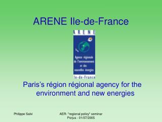 ARENE Ile-de-France