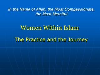 Women Within Islam
