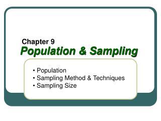 Population & Sampling