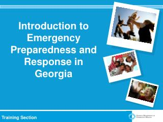 Introduction to Emergency Preparedness and Response in Georgia