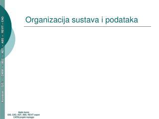 Organizacija sustava i podataka