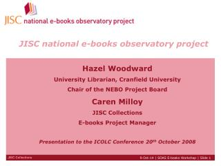 JISC national e-books observatory project