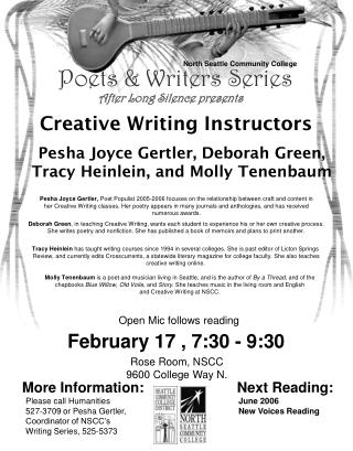 Poets & Writers Series