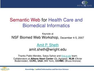 Semantic Web  for  Health Care and Biomedical Informatics