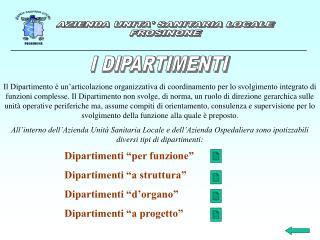 AZIENDA UNITA' SANITARIA LOCALE FROSINONE