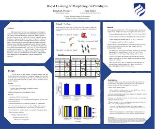 Rapid Learning of Morphological Paradigms