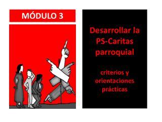 Desarrollar la PS-Caritas parroquial  criterios y orientaciones prácticas