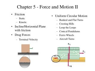 Chapter 5 - Force and Motion II