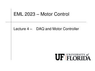 EML 2023 – Motor Control