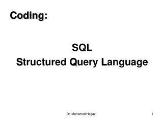 Coding: