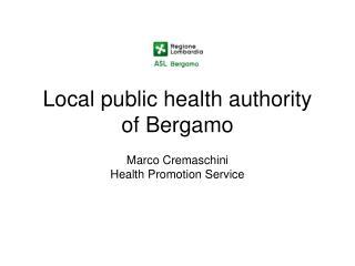 Local public health authority of Bergamo