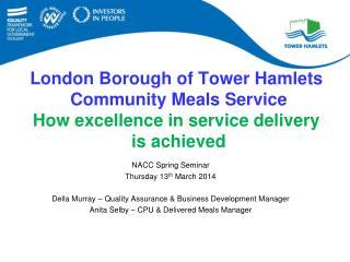 NACC Spring Seminar Thursday 13 th  March 2014