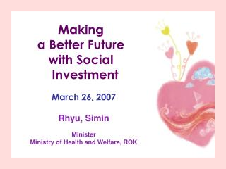 Making  a Better Future  with Social Investment