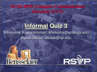 ECSE-4670: Computer Communication Networks (CCN)
