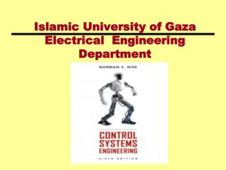 Islamic University of Gaza Electrical  Engineering Department