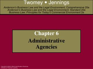 Chapter 6  Administrative Agencies