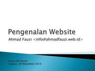 Pengenalan  Website