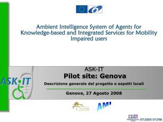 Descrizione generale del progetto e aspetti locali Genova, 27 Agosto 2008