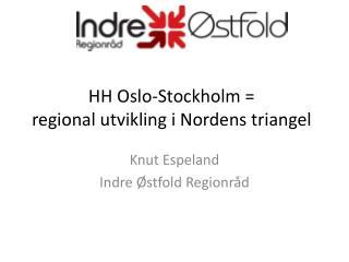 HH Oslo-Stockholm =  regional utvikling i Nordens triangel
