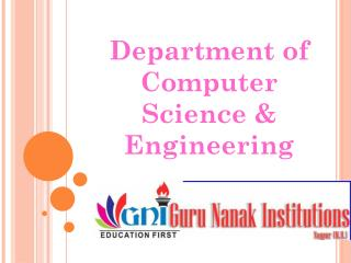 Department of Computer Science & Engineering