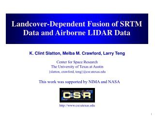 Landcover-Dependent Fusion of SRTM Data and Airborne LIDAR Data