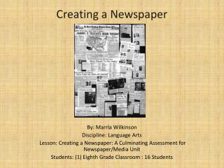 Creating a Newspaper