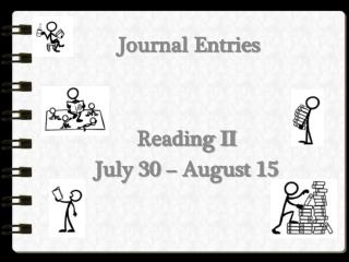 Journal Entries