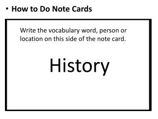 How to Do Note Cards