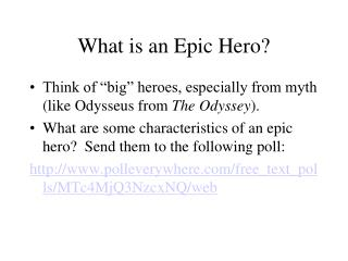 What is an Epic Hero?