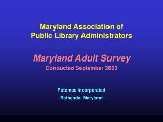 Maryland Association of Public Library Administrators