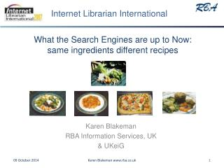 What the Search Engines are up to Now: same ingredients different recipes