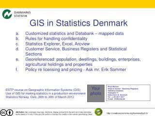 GIS in Statistics Denmark